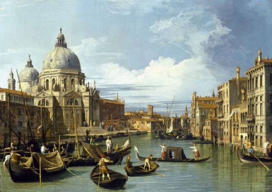 Canaletto, Giovanni Antonio Canal: The Entrance to the Grand Canal, Venice. Fine Art Print/Poster. Sizes: A4/A3/A2/A1 (003530)
